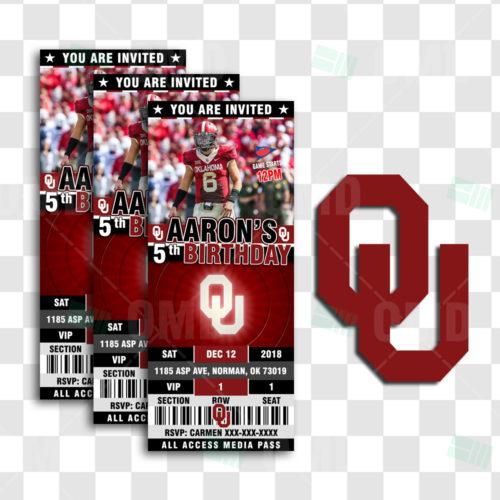 Oklahoma Sooners - Invite 2 - Product 1