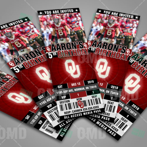 Oklahoma Sooners - Invite 2 - Product 2