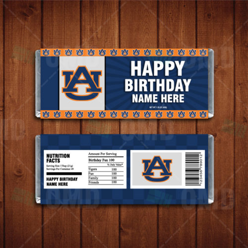 Auburn Tigers - Candy Bar 1 - Product 1