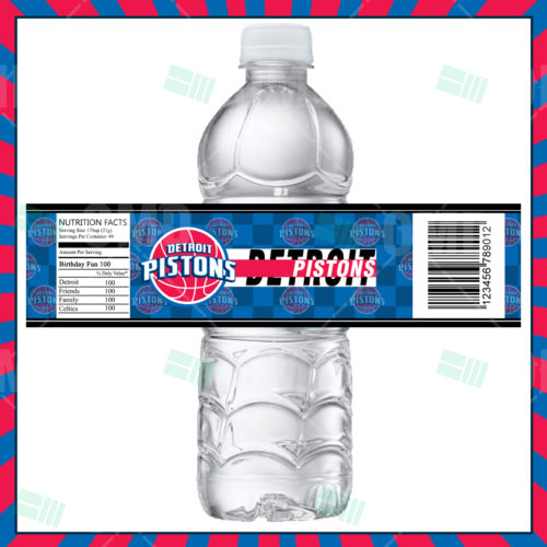 Detroit Pistons - Bottle Label - Product 1
