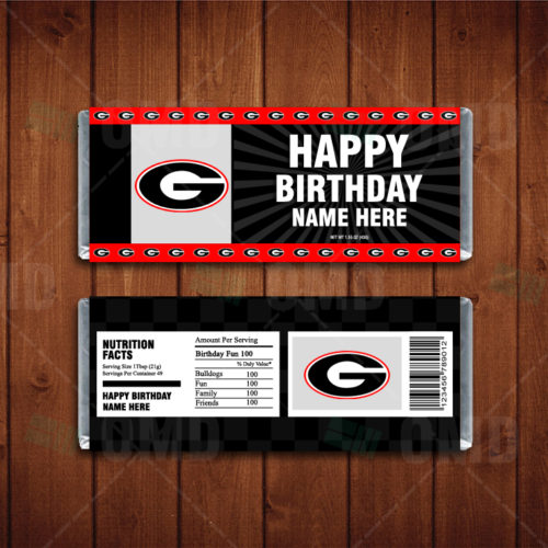 Georgia Bulldogs - Candy Bar 1 - Product 1