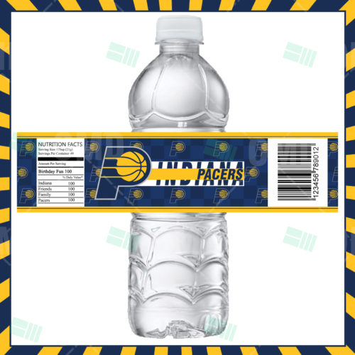 Indiana Pacers - Bottle Label - Product 1