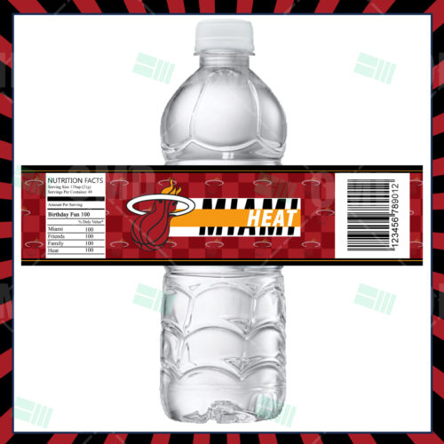 Miami Heat - Bottle Label - Product 1