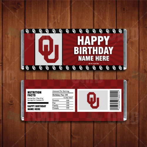 Oklahoma Sooners - Candy Bar 1 - Product 1