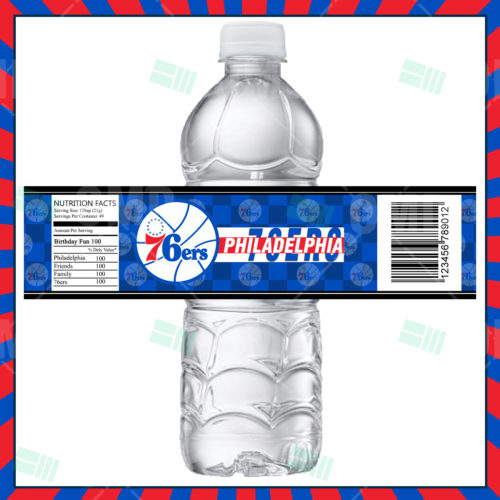 Philadelphia 76ers - Bottle Label - Product 1