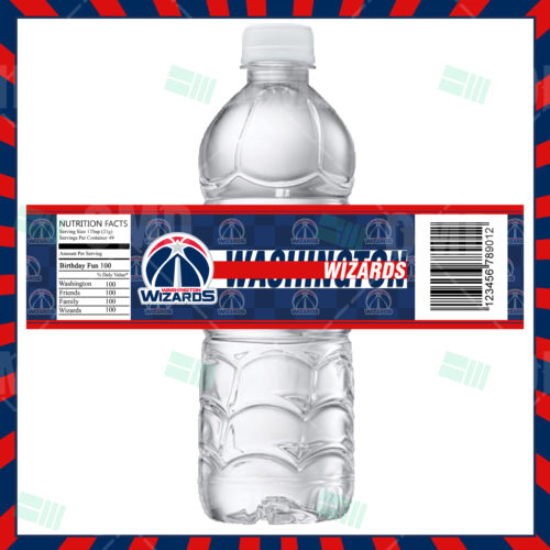 Washington Wizards - Bottle Label - Product 1
