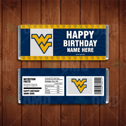West Virginia Mountaineers - Candy Bar 1 - Product 1