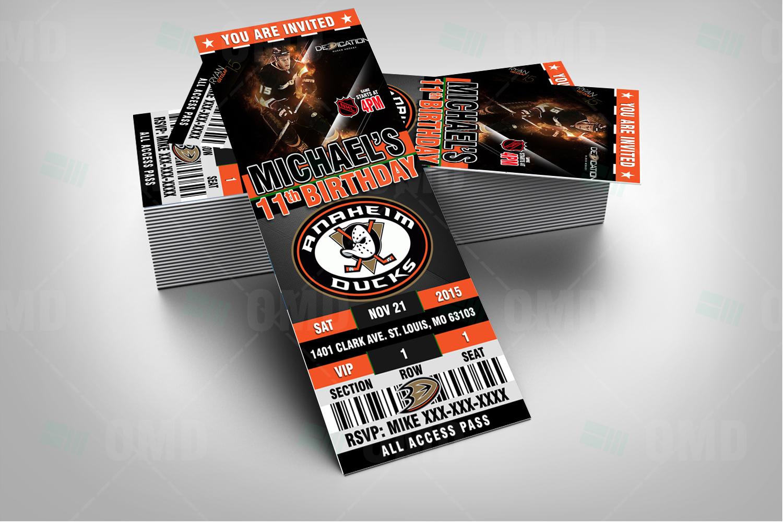 the latest d403e 2fe69 2.5×6 Anaheim Ducks Sports Party Invitations – Sports Invites