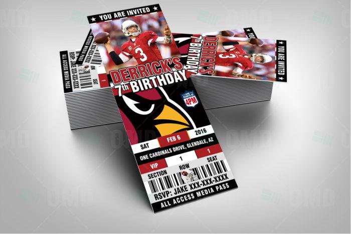 be8f7e49 Arizona Cardinals Sports Party Invitations – Sports Invites