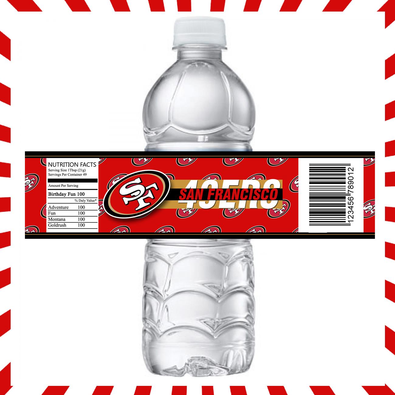 a353e5d2 San Francisco 49ers Bottle Labels