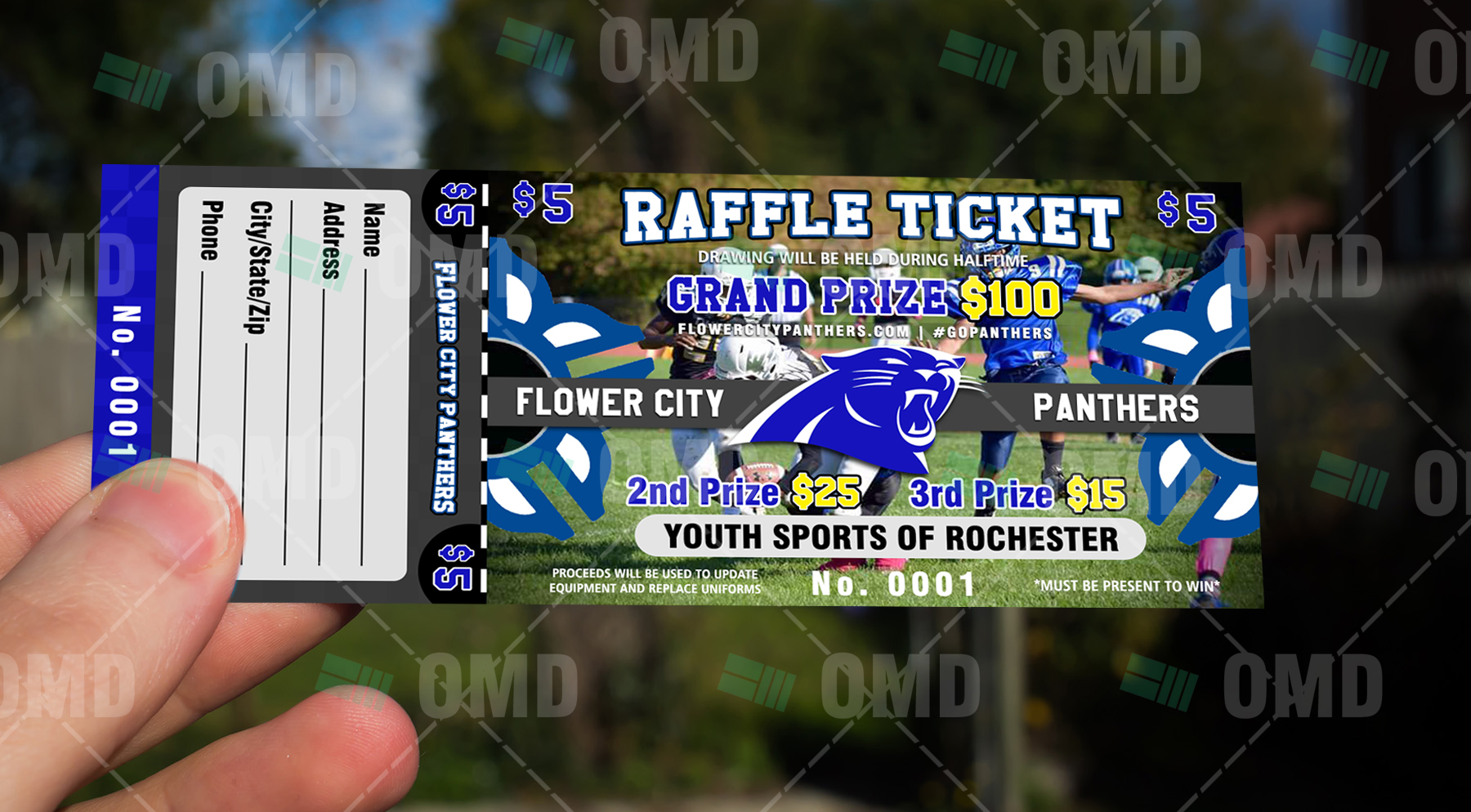 youth football raffle ticket  u2013 sports invites
