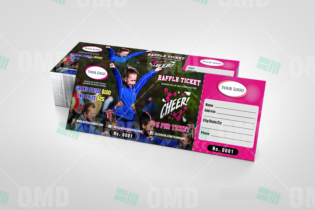 cheerleading raffle ticket  u2013 sports invites