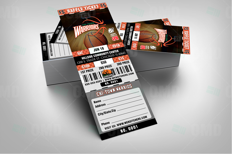 Basketball Raffle Ticket Template