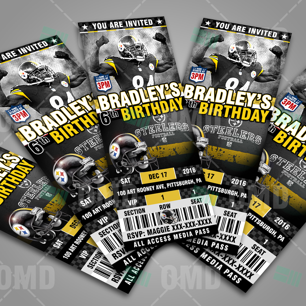Pittsburgh steelers football ultimate party package sports invites steelers football ultimate party package filmwisefo
