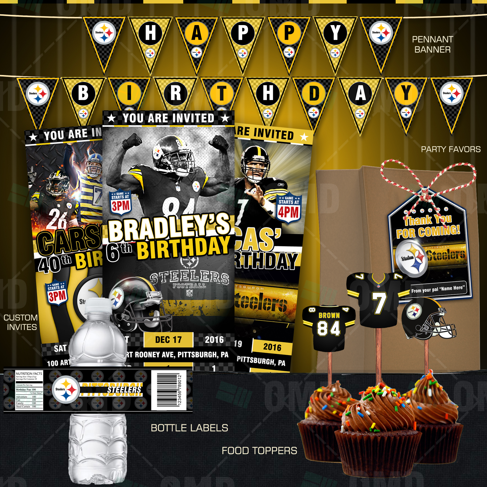 6a31d3d449a0f Pittsburgh Steelers Football Ultimate Party Package
