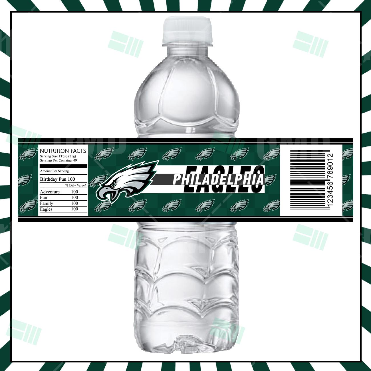 Philadelphia Eagles Football Bottle Labels