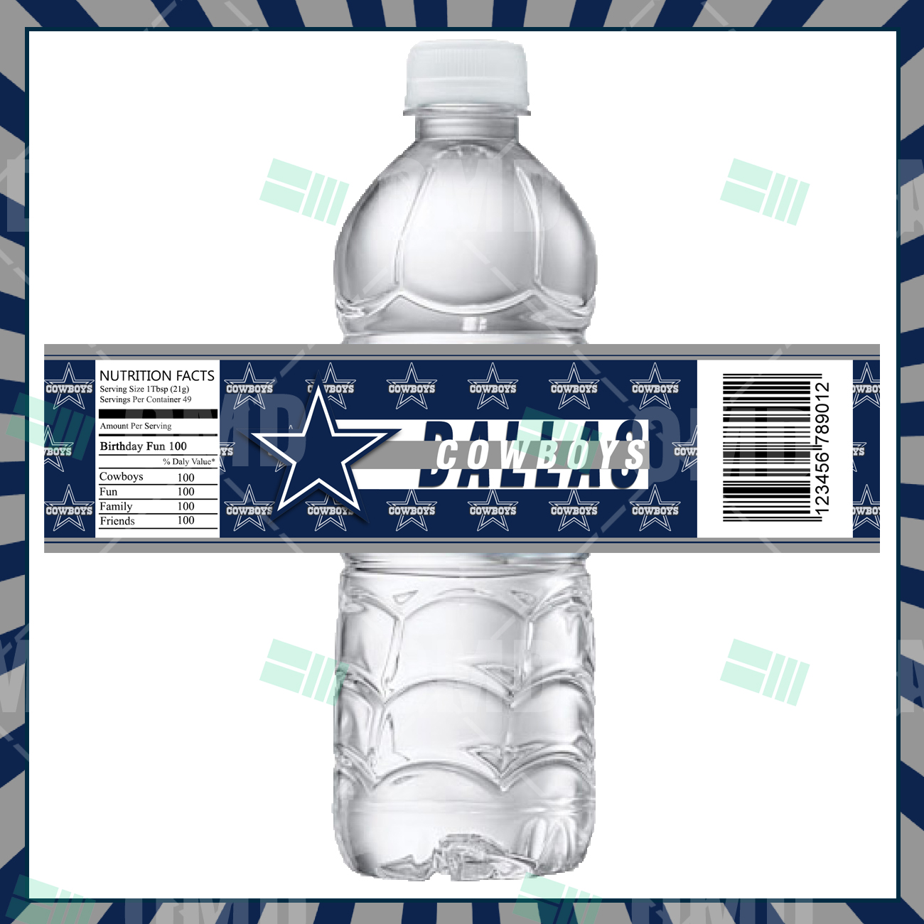 a86f5bf2c9b Dallas Cowboys Custom Bottle Labels – Sports Invites