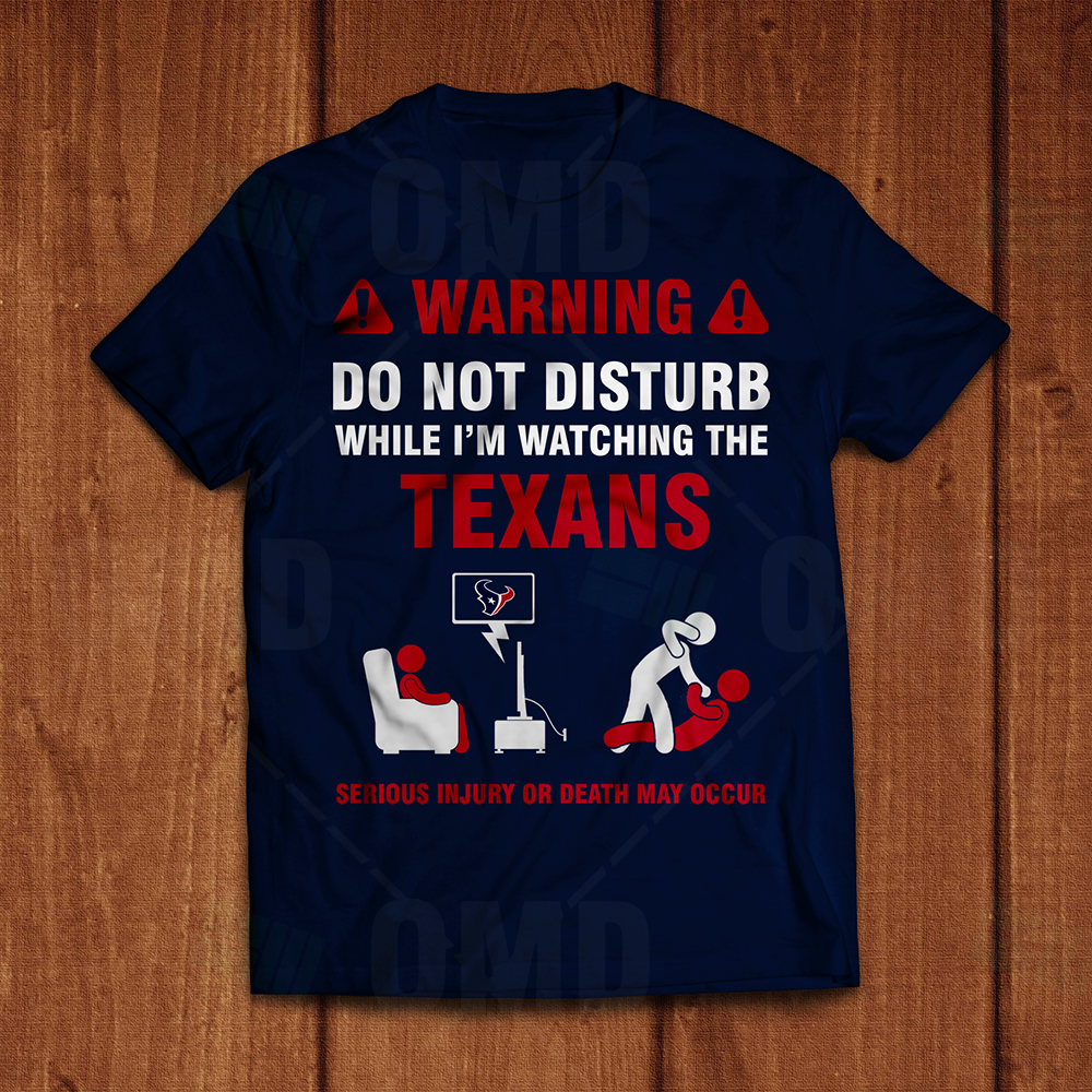 Houston Texans Warning T Shirt Sports Invites