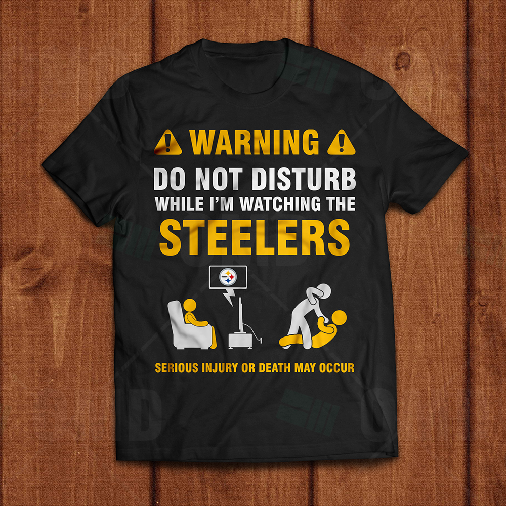 outlet store 0673f 0be6c Pittsburgh Steelers - Warning T-Shirt
