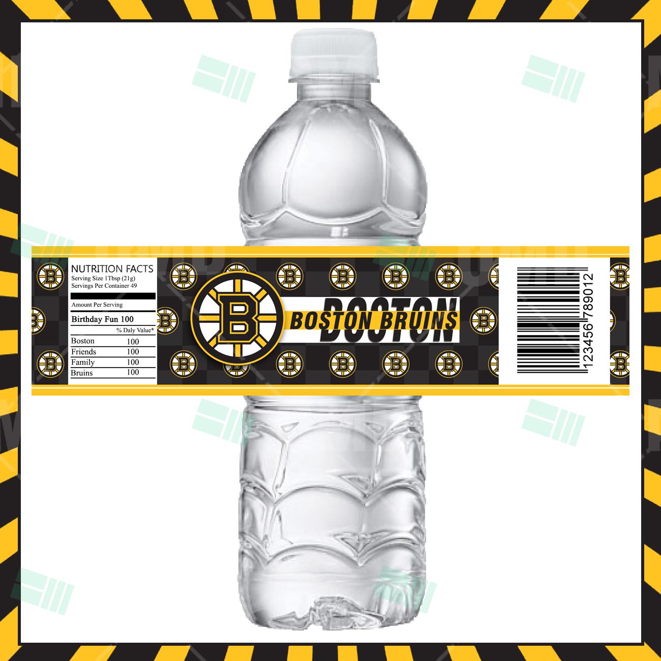 Boston Bruins Hockey Bottle Labels – Sports Invites