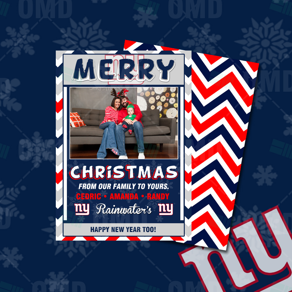 """New York Giants """"Merry Christmas"""" Cards – Sports Invites"""