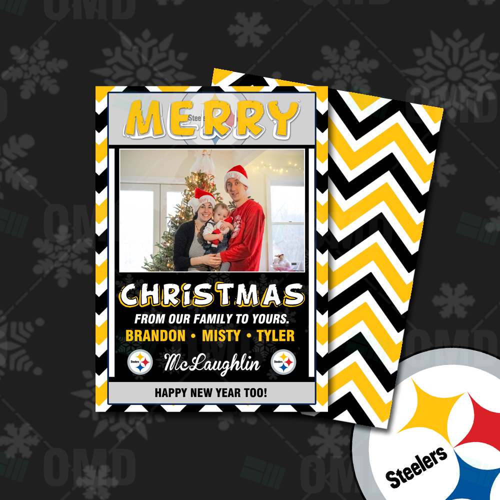 "Pittsburgh Steelers ""Merry Christmas"" Cards – Sports Invites"