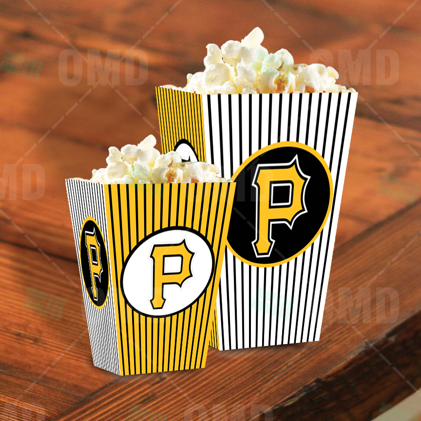 Pittsburgh Pirates Sports Party Popcorn Boxes Sports Invites