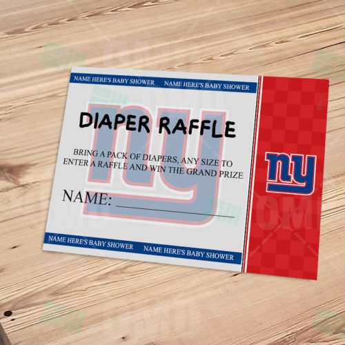c79f081f1 New York Giants Ticket Style Sports Party Invitations – Sports Invites