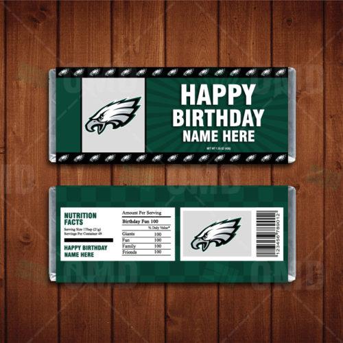 Philadelphia Eagles Custom Candy Bar Wrers