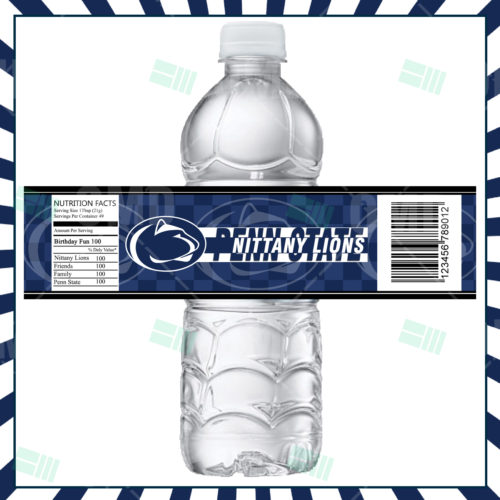 Penn State Nittany Lions Custom Candy Bar Wrappers